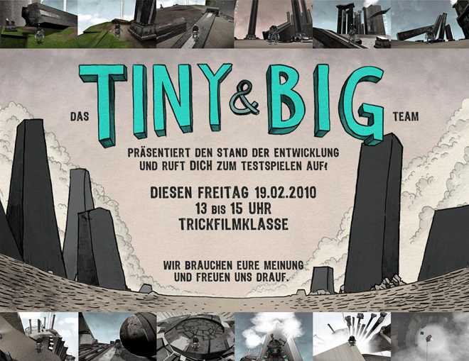 TINY AND BIG – Einladung zum Spieletest